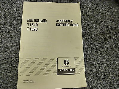 New Holland T1510 T1520 Compact Utility Tractor Shop Service Assembly Manual