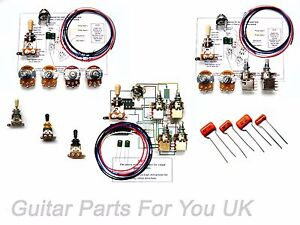 BUILD YOUR OWN 500K custom les paul wiring kit, push pull pots full size pots