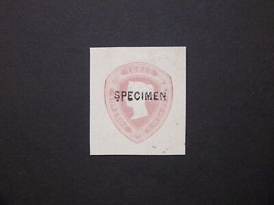 GB Postal Stationery STO 1860 QV 11/2d lilac-rose 'SPECIMEN' Proof cut out