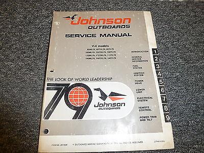 1979 Johnson 85 100 115 140 HP V4  Outboard Motor Shop Service Repair Manual