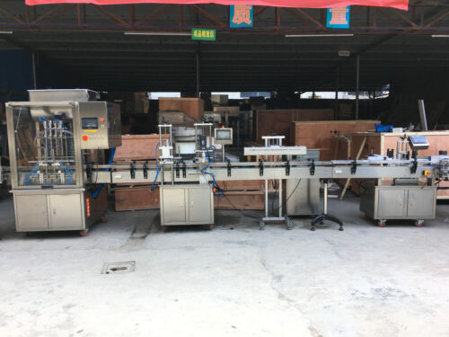 Auto Liquid Filling Pluging Capping Induction Sealing Labeling Machine By Sea