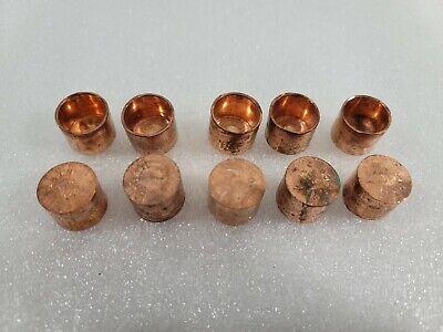 12 Wrot Copper Cap Lot Of 10 End Copper Cap