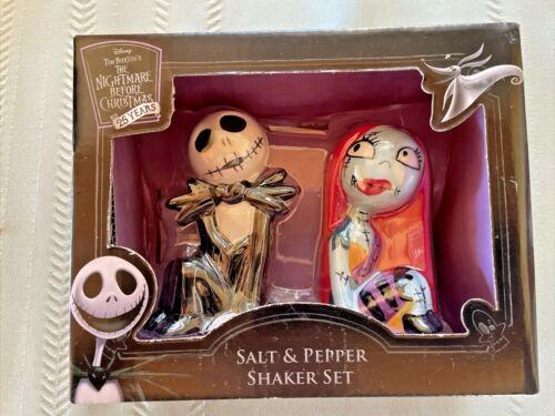 Nightmare Before Christmas Jack Sally Figural Salt and Pepper Shakers NIB 2018