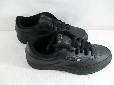 Reebok Classics Club C85 Black Leather Athletic and Casual Shoe Size 9 M NWOB