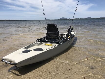 Hobie Pro-Angler PA-14 pedal kayak boat with sail and second seat