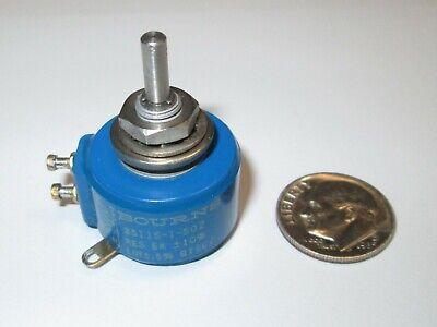 Bourns 3511s-1-502 5k Ohm 3-turn 1w Wire Wound Potentiometer Refurb.