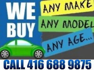 we PAY  top DOLLARS  for your scrap CARS &used CARS☎ 4166889875