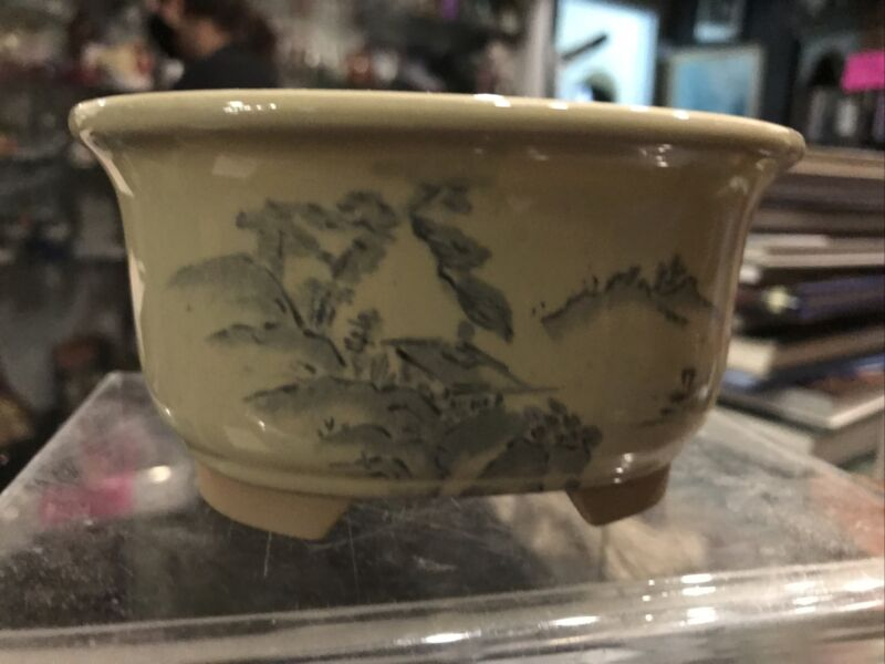 Vintage Asian Planter Flower Pot Bonzai Tree Pot