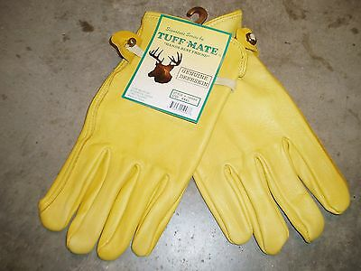 DeerSkin Soft Leather Work Gloves - Mens XXXL - Extra Extra Extra Large