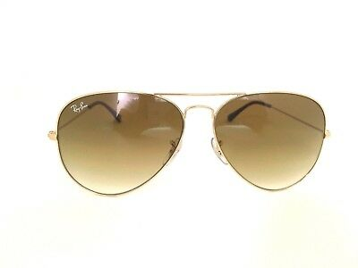 Ray Ban RB3025 Aviator Gold Brown Gradient Frame Sunglasses 001/51 58mm (Aviator Gold Brown Gradient)