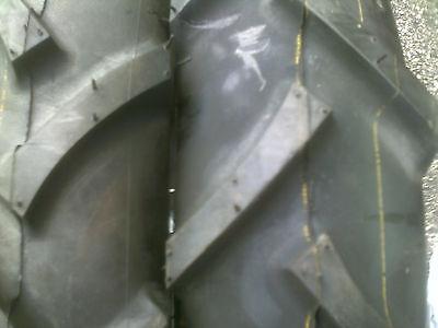 Two 500x15 5.00x15500-155.00-15 R1 Bar Lug Tractor Tires 6 Ply John Deere 850