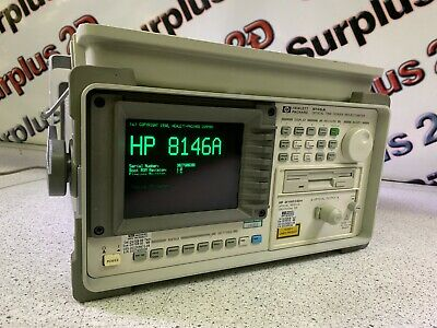 Hewlett Packard 8146a Optical Time Domain Reflectometer Opt1 And Opt3 Installed