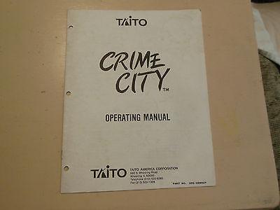 CRIME CITY    arcade  video game manual