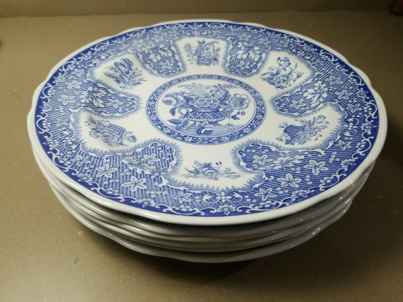 "Lot of 6 The Spode Blue Room Collection Plate 9"" Blue White 6 Different Patterns"