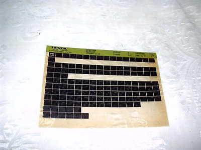 HONDA CH250 CH 250 F,G.H. SPACEY GENUINE PARTS CATALOGUE MICROFICHE