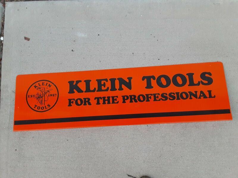 Vintage Klein Tools Metal Sign 36×10