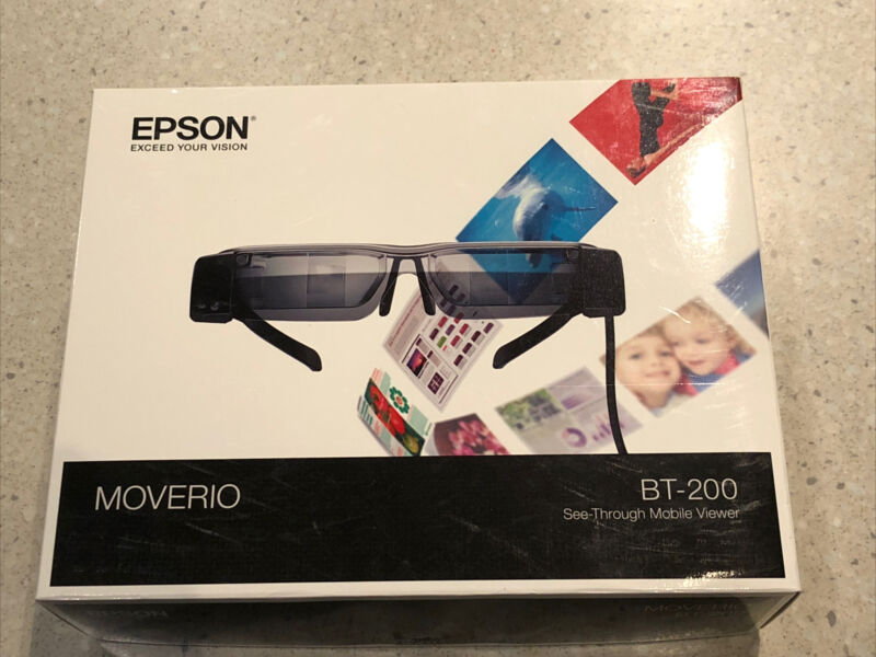 Epson BT-200 Active 3D Glasses/Smart Glasses - Black Great Condition