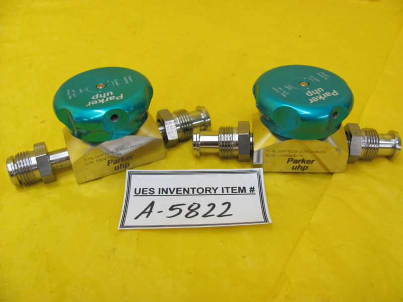 Parker UHP1004-2755A1M410 Manual Diaphragm Valve Lot of 2 Used Working