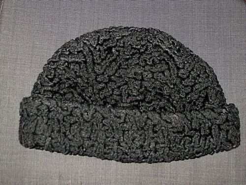 VINTAGE PERSIAN LAMB FUR RUSSIAN HAT WITH EARFLAPS MENS ONE SIZE