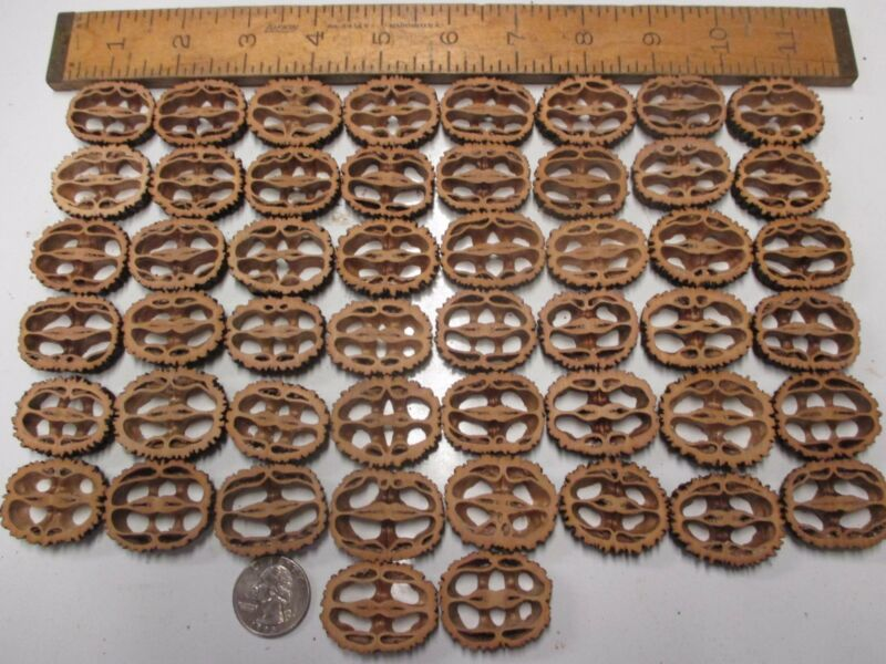 """Black Walnut Shell Slices 1-1/4"""" to 1-3/8"""" 1/4"""" Thick 50 Count Resin Table Bar"""