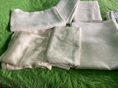 assorted lot of tablecloths and new material  14 pc
