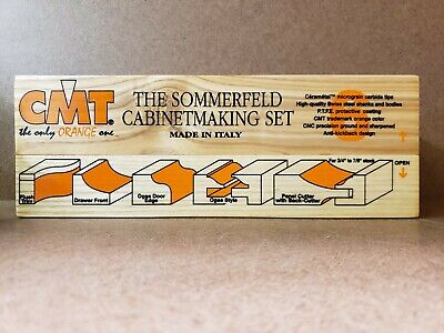 Cmt Tools 800.515.11 - 6-piece Sommerfeld Cabinetmaking Set 12-inch Shank