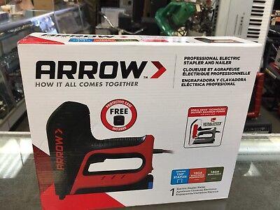 "6"" Electric Staple Gun Brad Nailer Home Office Jobsite Stapling Tucker Hand Tool"