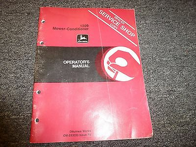 John Deere 1209 Mower Conditioner Owner Operator Maintenance Manual Ome63033