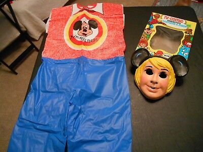 Mouseketeer Halloween Costume (Vintage Mickey Mouseketeer Costume and Mask, Ben Cooper, Large Kids)