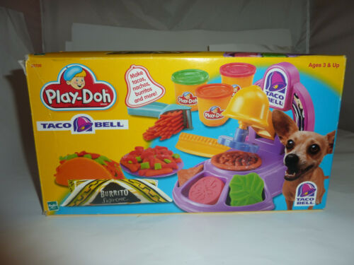 TACO BELL Play-Doh Set COMPLETE Original Box 2000