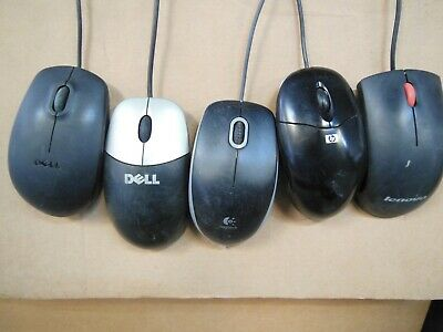Lot of 100 Wired Optical Laser Mice Mouse MIXED BRANDS DELL HP LENOVO -