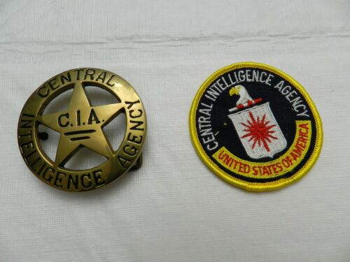 Central Intelligence Agency, CIA, Belt Buckle and Embroidered Patch
