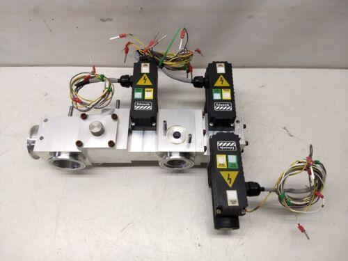 10-Port NW/KF Flange Vacuum Chamber w/ 3 Edwards Isolation Valves