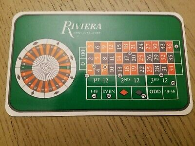 NOS 1960s Riviera Casino Hotel Las Vegas NV Gaming Guide Roulette Rates Pay Card