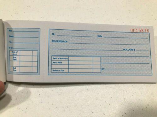 Carbonless Cash Money Rent receipt record 25 set book 2 part FC7A