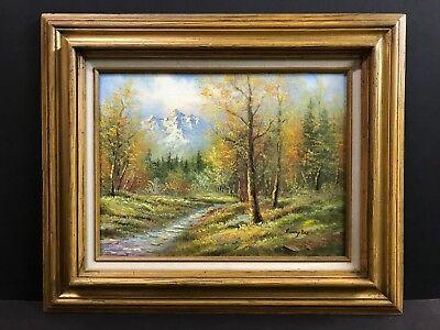 Autumn Mountain Stream Forest Landscape Original Ronny Lee 12x16 Oil Painting