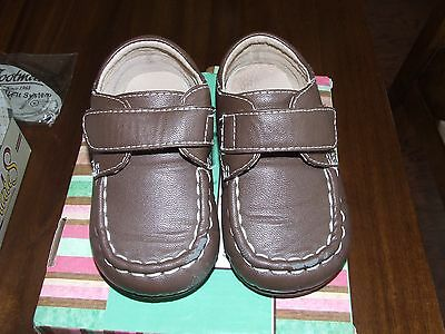 Itzy Bitzy Sz 6 Weston Brown Oxford Shoes Loafers Leather Toddler Boy Easter EH