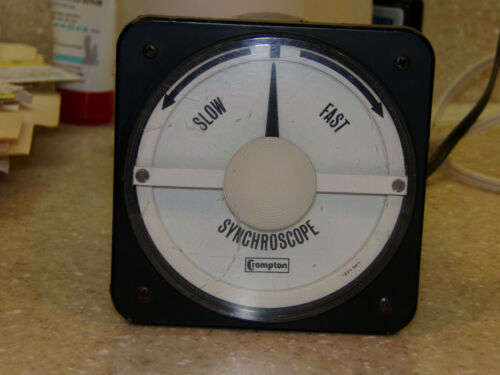 Crompton Instruments Switchboard Panel Meter 077 Syncroscope steampunk