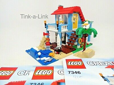 Lego 7346 Seaside House Creator Set EC 100% Complete 3 in 1 with Manuals