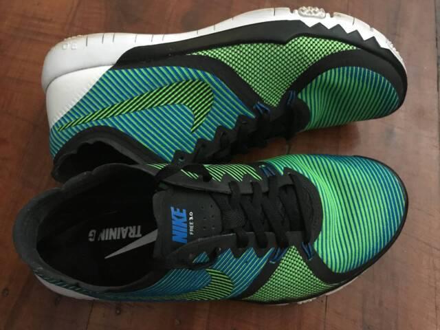 a7a7050571df Nike Free Trainer 3.0 V4 Black Green Solar White US 8 AU 7 EU 41 ...