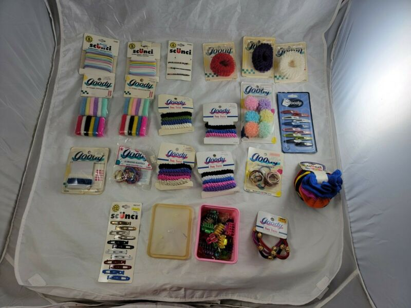 Vintage 80s 90s Goody Scunci Ponytail Holders Barrettes Ponytailers Scrunchy