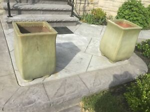 Pair of Ceramic outdoor planters
