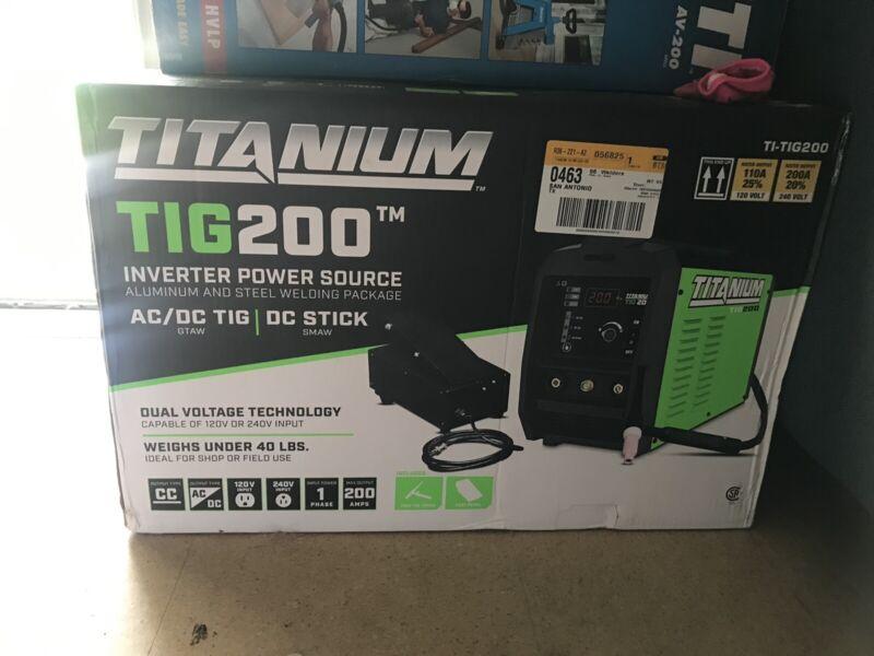 Titanium Tig200 Inverter Powe Source welder 120/240 ac/dc Ti-tig200 only1nomore!