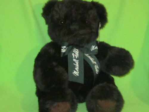 """Marshall Fields 2003 Teddy Bear Dark Brown Jointed 11"""" Plush Collectible Tag HTF"""