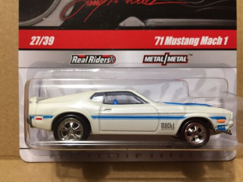 1:64 Hot Wheels Garage '65 Ford Mustang Fastback White