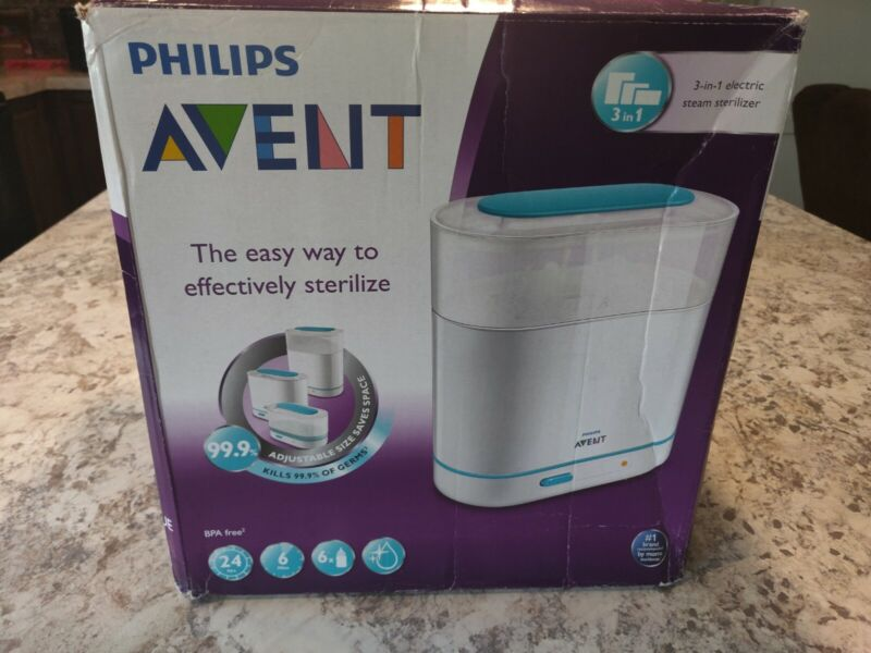 Philips Avent SCF284/05 3-in-1 Electric bottle Steam Sterilizer for Baby Infant