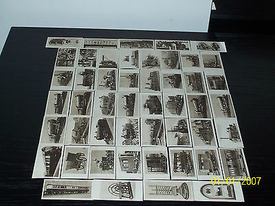 R & J HILL THE RAILWAY CENTENARY A SERIES OF 50 - 35 GOOD CONDITION CARDS