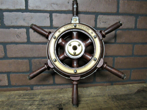 Vintage Antique RARE Yacht Steering Wheel Boat Ship