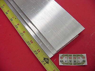 3 Pieces 14 X 3 Aluminum Flat Bar 24 Long 6061 Plate Mill Stock .25