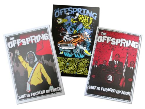 Offspring Three Piece 2009 Tour Wall Poster Gift Set New Official Lot